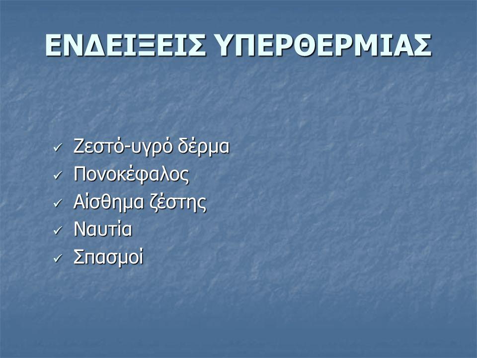 ΕΝΔΕΙΞΕΙΣ ΥΠΕΡΘΕΡΜΙΑΣ