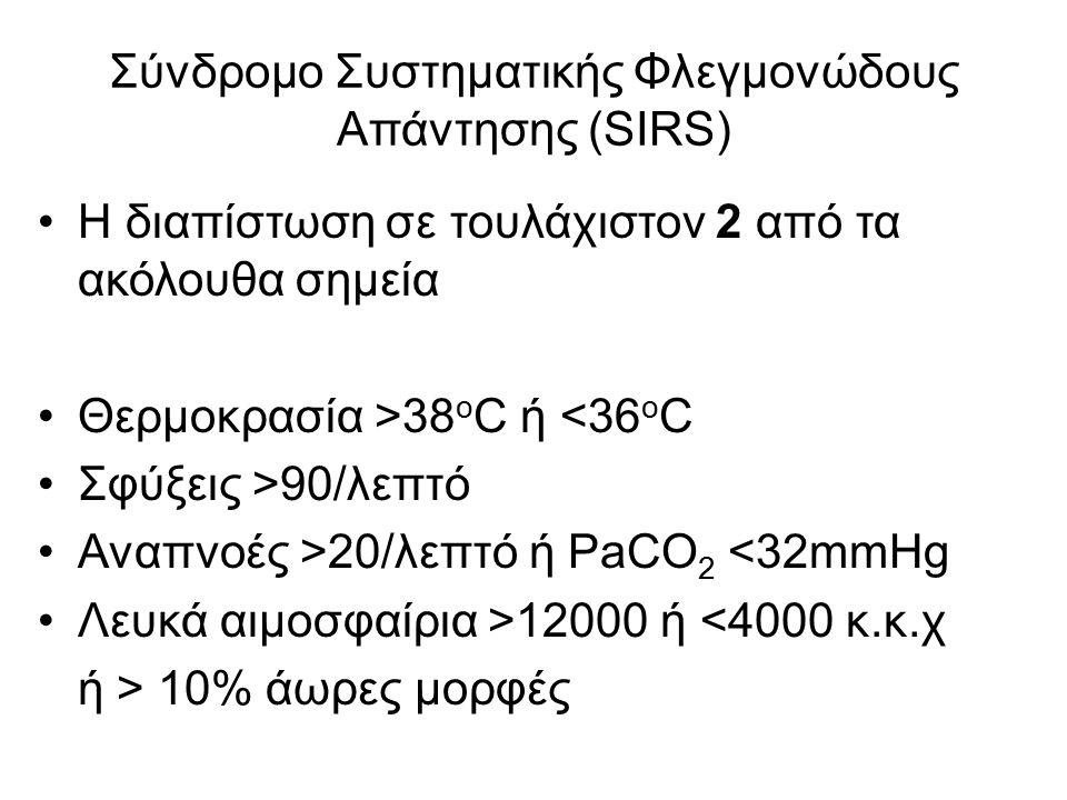 Σύνδρομο Συστηματικής Φλεγμονώδους Απάντησης (SIRS)