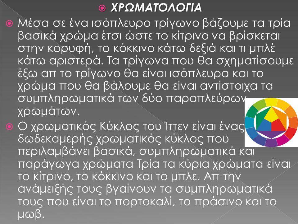 ΧΡΩΜΑΤΟΛΟΓΙΑ