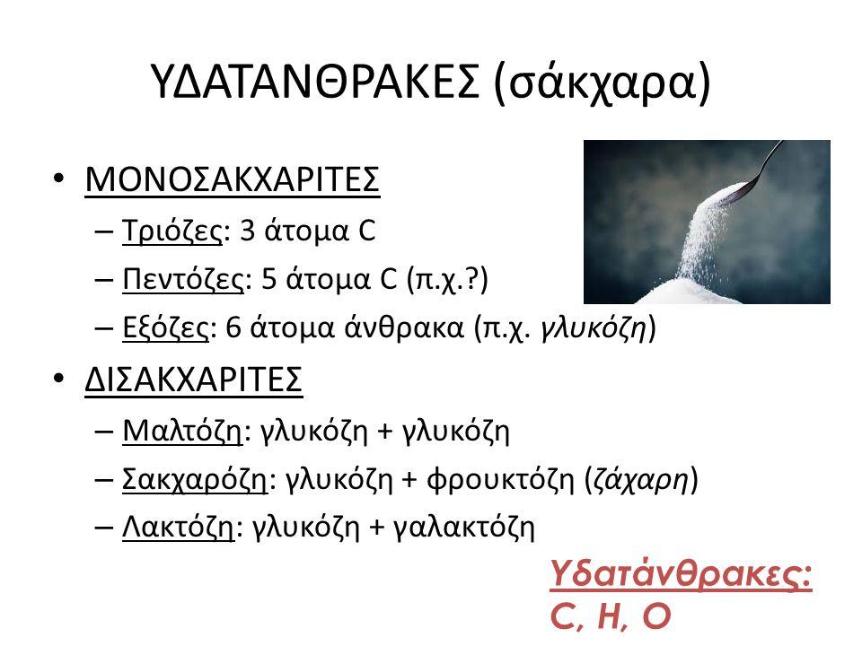 ΥΔΑΤΑΝΘΡΑΚΕΣ (σάκχαρα)