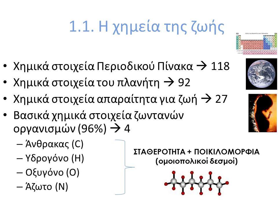 ΣΤΑΘΕΡΟΤΗΤΑ + ΠΟΙΚΙΛΟΜΟΡΦΙΑ (ομοιοπολικοί δεσμοί)