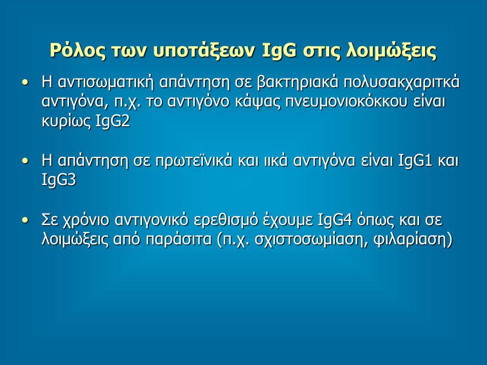 Ρόλος των υποτάξεων IgG στις λοιμώξεις