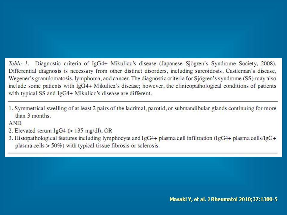 Masaki Y, et al. J Rheumatol 2010;37:1380-5