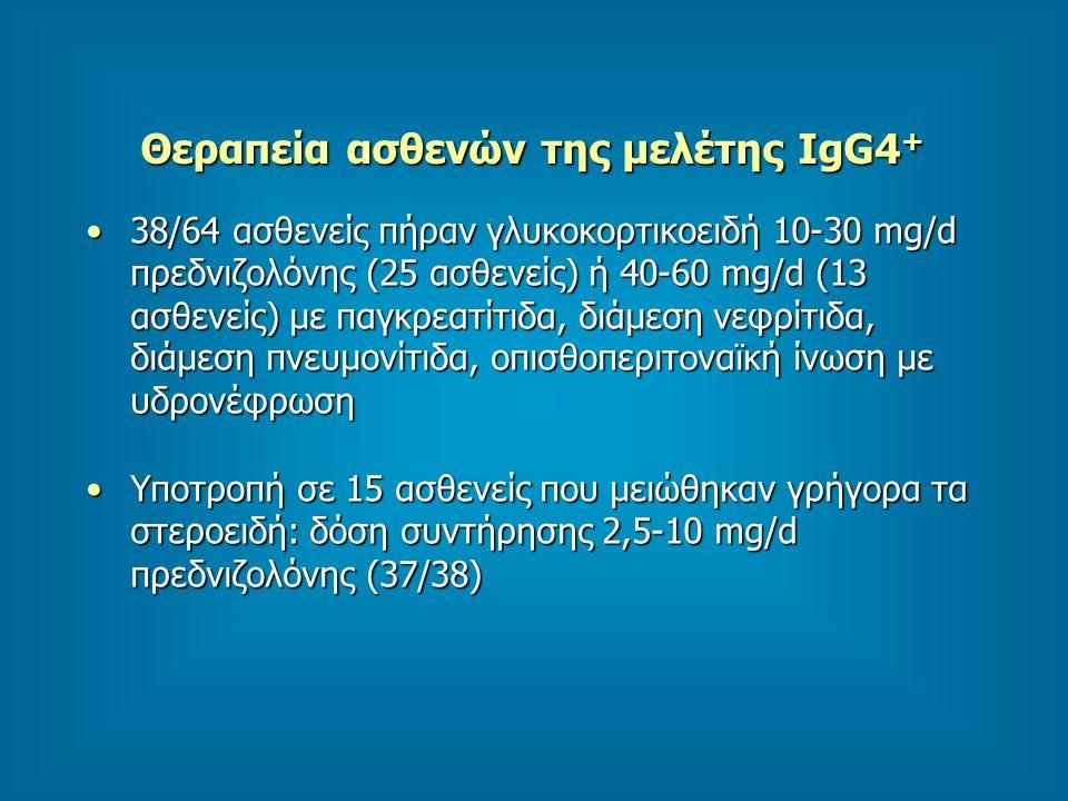 Θεραπεία ασθενών της μελέτης IgG4+
