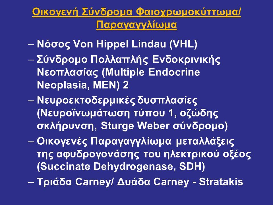 Οικογενή Σύνδρομα Φαιοχρωμοκύττωμα/ Παραγαγγλίωμα