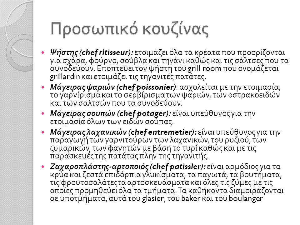Προσωπικό κουζίνας