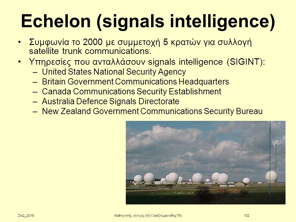 Echelon (signals intelligence)