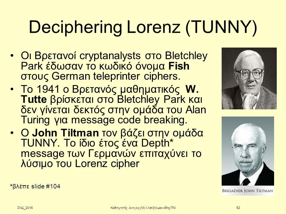Deciphering Lorenz (TUNNY)
