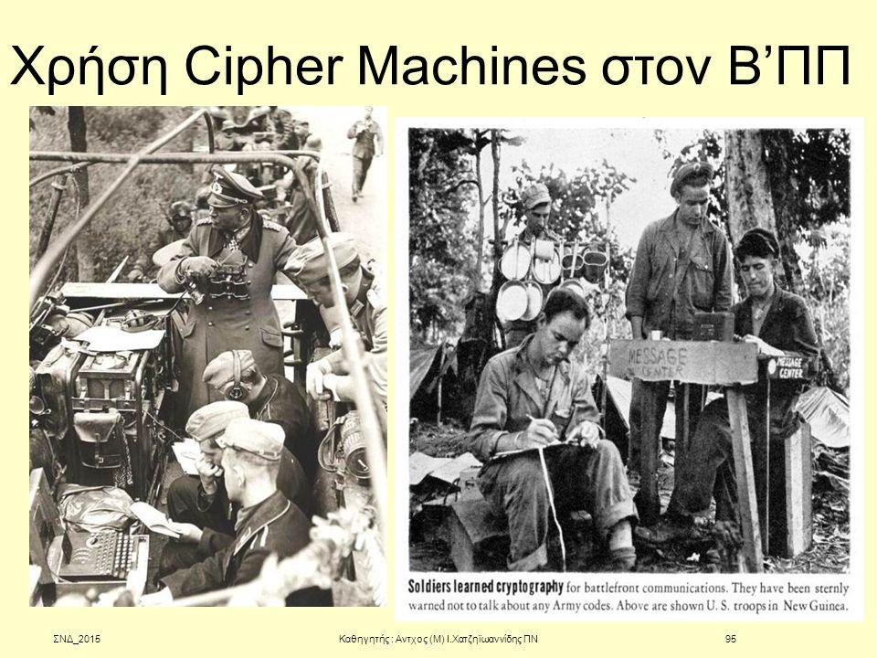 Χρήση Cipher Machines στον Β'ΠΠ