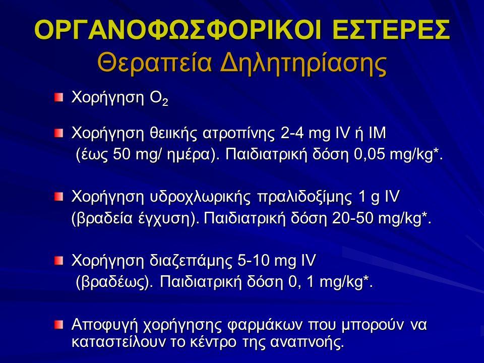 ΟΡΓΑΝΟΦΩΣΦΟΡΙΚΟΙ ΕΣΤΕΡΕΣ Θεραπεία Δηλητηρίασης