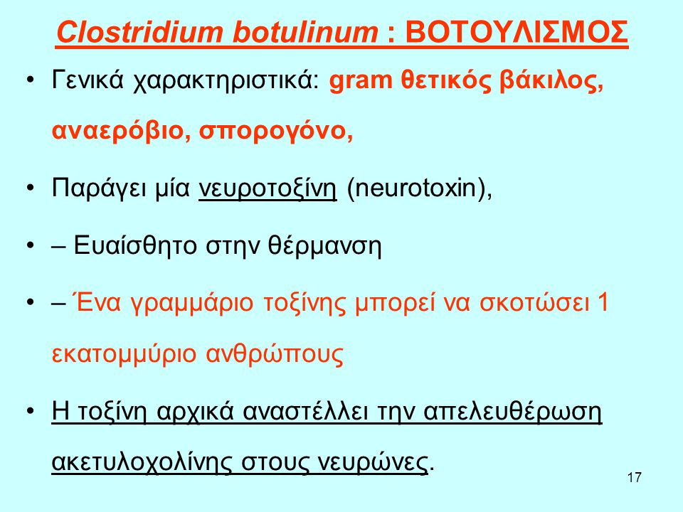 Clostridium botulinum : ΒΟΤΟΥΛΙΣΜΟΣ