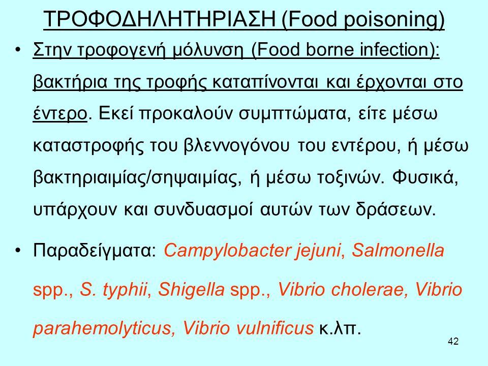 ΤΡΟΦΟΔΗΛΗΤΗΡΙΑΣΗ (Food poisoning)
