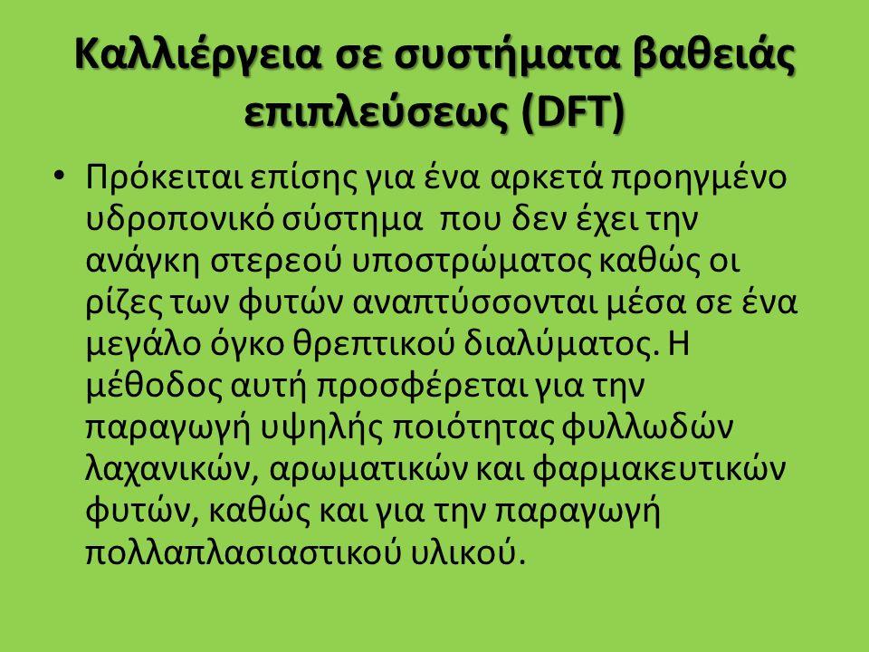 Καλλιέργεια σε συστήματα βαθειάς επιπλεύσεως (DFT)