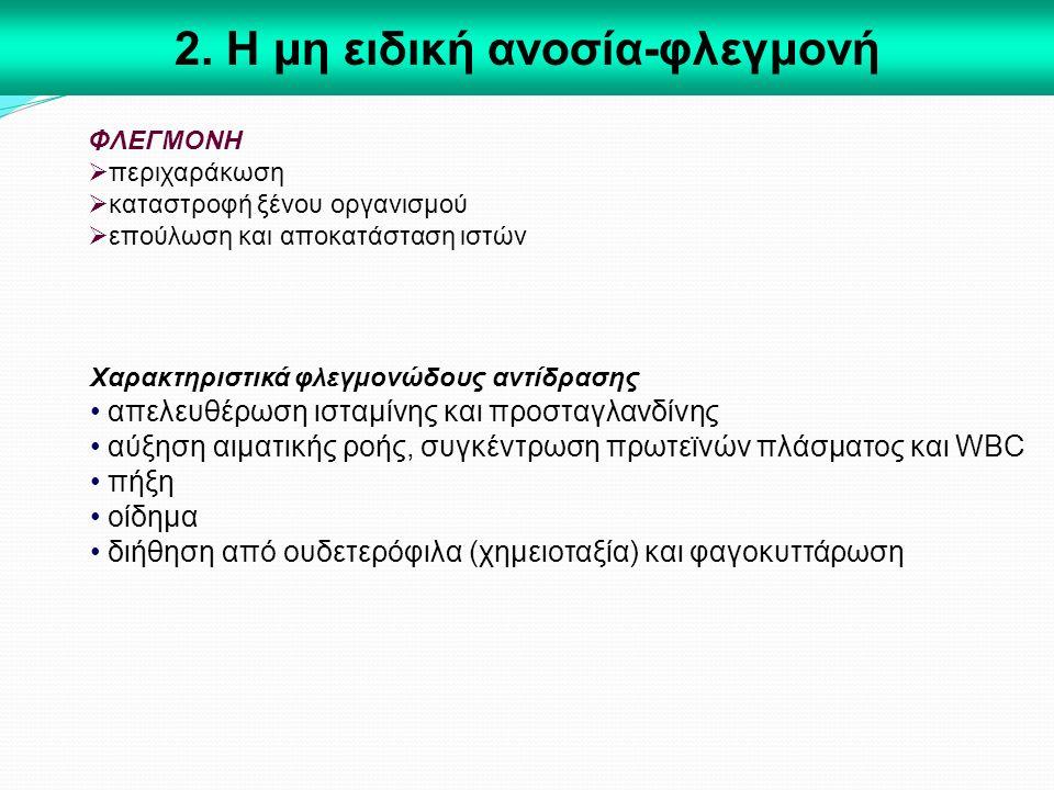 2. Η μη ειδική ανοσία-φλεγμονή