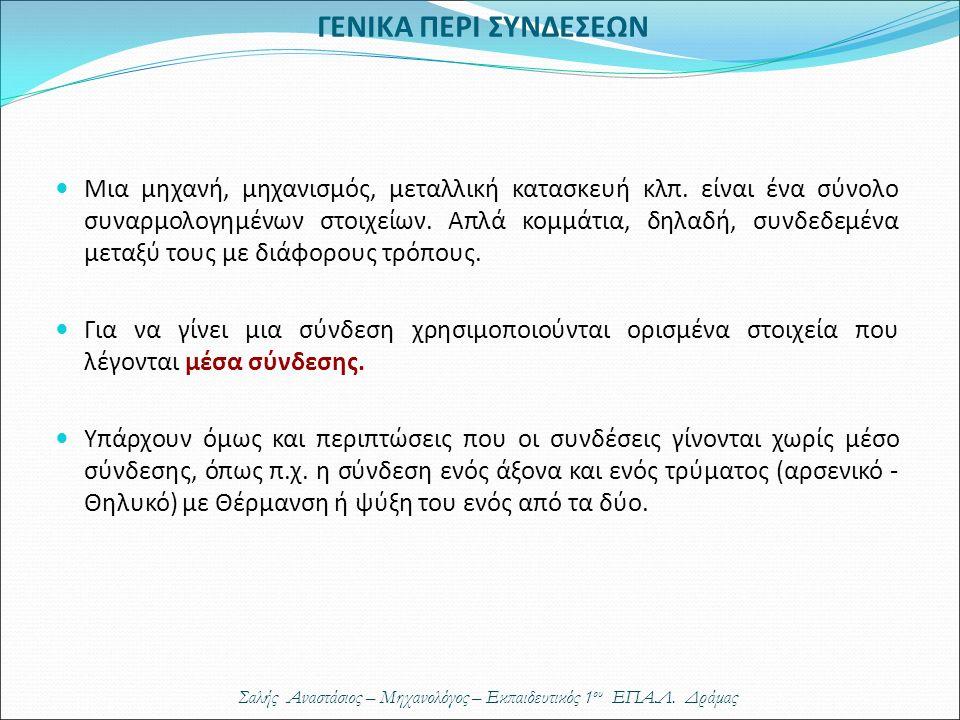ΓΕΝΙΚΑ ΠΕΡΙ ΣΥΝΔΕΣΕΩΝ