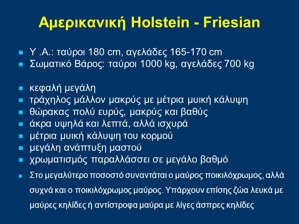Αμερικανική Holstein - Friesian