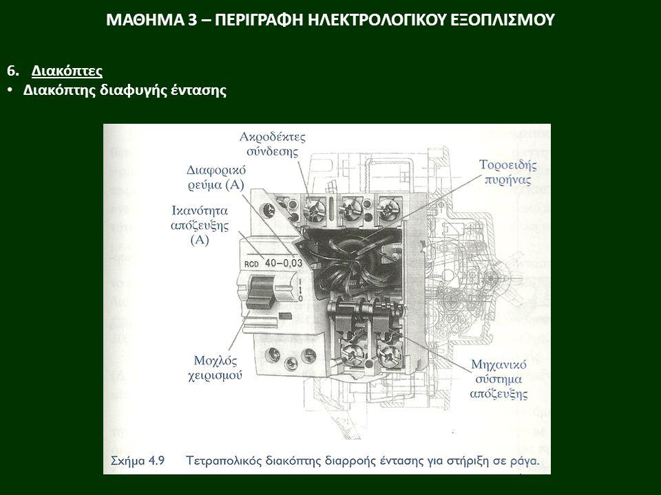ΜΑΘΗΜΑ 3 – ΠΕΡΙΓΡΑΦΗ ΗΛΕΚΤΡΟΛΟΓΙΚΟΥ ΕΞΟΠΛΙΣΜΟΥ