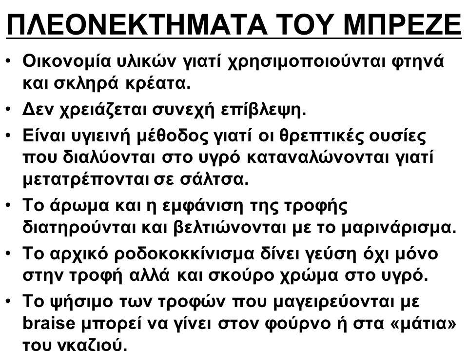 ΠΛΕΟΝΕΚΤΗΜΑΤΑ ΤΟΥ ΜΠΡΕΖΕ