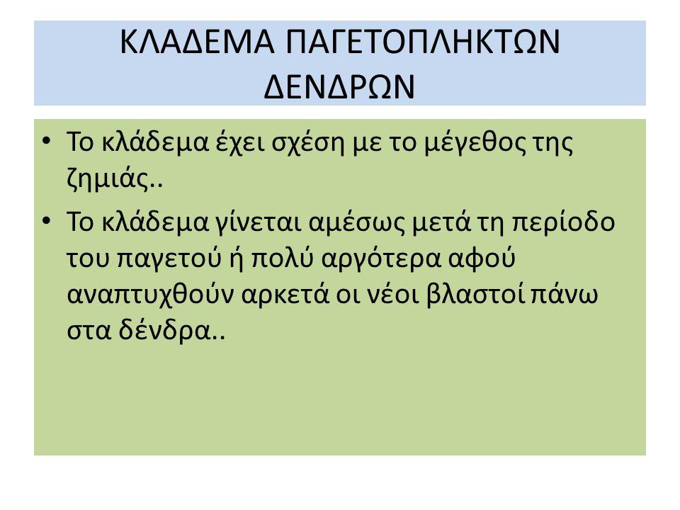 ΚΛΑΔΕΜΑ ΠΑΓΕΤΟΠΛΗΚΤΩΝ ΔΕΝΔΡΩΝ