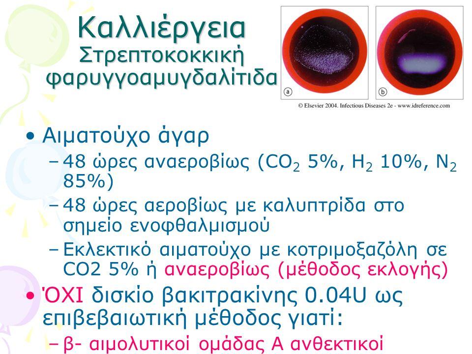 Καλλιέργεια Στρεπτοκοκκική φαρυγγοαμυγδαλίτιδα