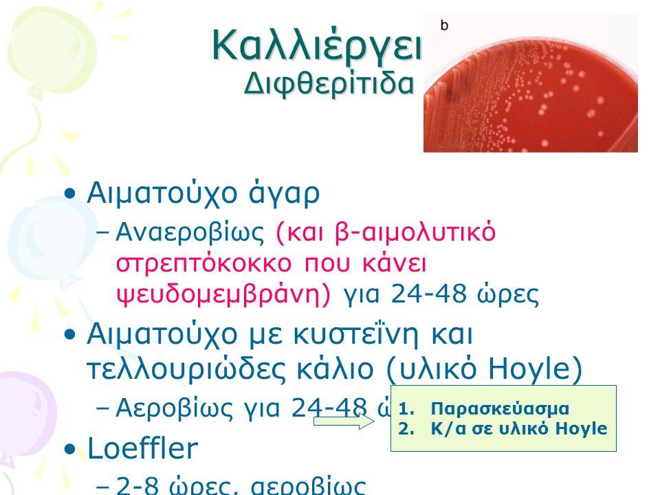 Καλλιέργεια Διφθερίτιδα