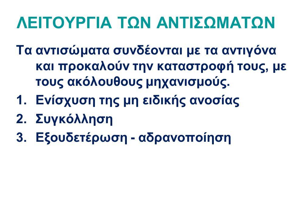 ΛΕΙΤΟΥΡΓΙΑ ΤΩΝ ΑΝΤΙΣΩΜΑΤΩΝ