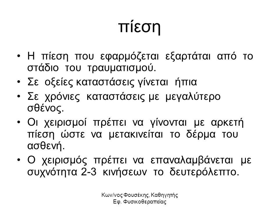 Kων/νος Φουσέκης, Καθηγητής Εφ. Φυσικοθεραπείας