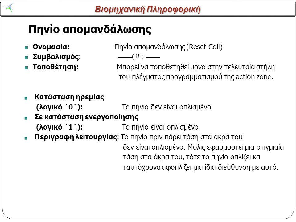 Πηνίο απομανδάλωσης ( R ) Ονομασία: Πηνίο απομανδάλωσης (Reset Coil)