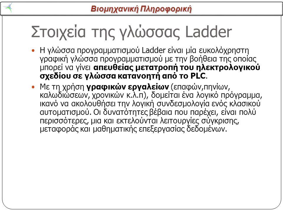 Στοιχεία της γλώσσας Ladder