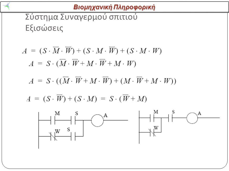 Σύστημα Συναγερμού σπιτιού Εξισώσεις