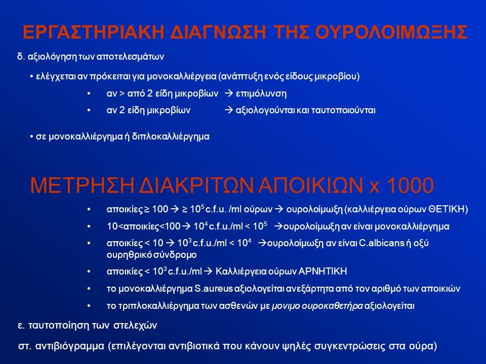ΕΡΓΑΣΤΗΡΙΑΚΗ ΔΙΑΓΝΩΣΗ ΤΗΣ ΟΥΡΟΛΟΙΜΩΞΗΣ