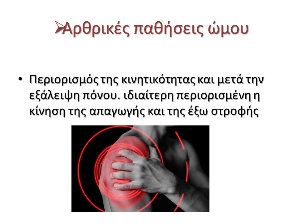 Αρθρικές παθήσεις ώμου