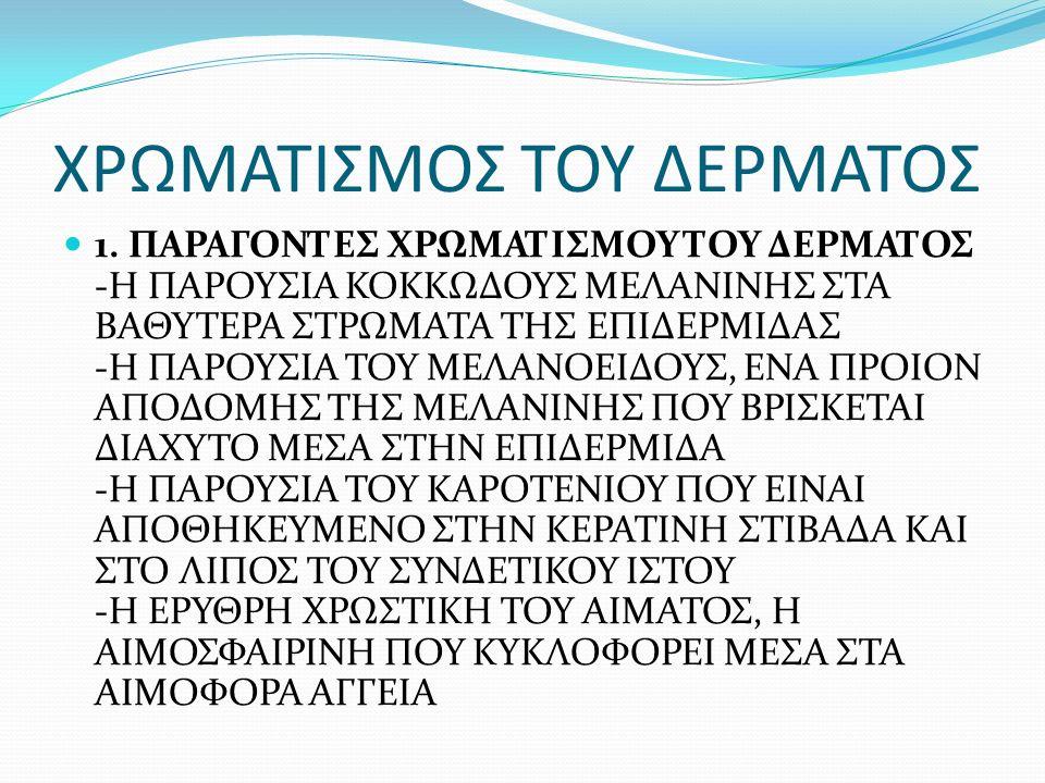 ΧΡΩΜΑΤΙΣΜΟΣ ΤΟΥ ΔΕΡΜΑΤΟΣ