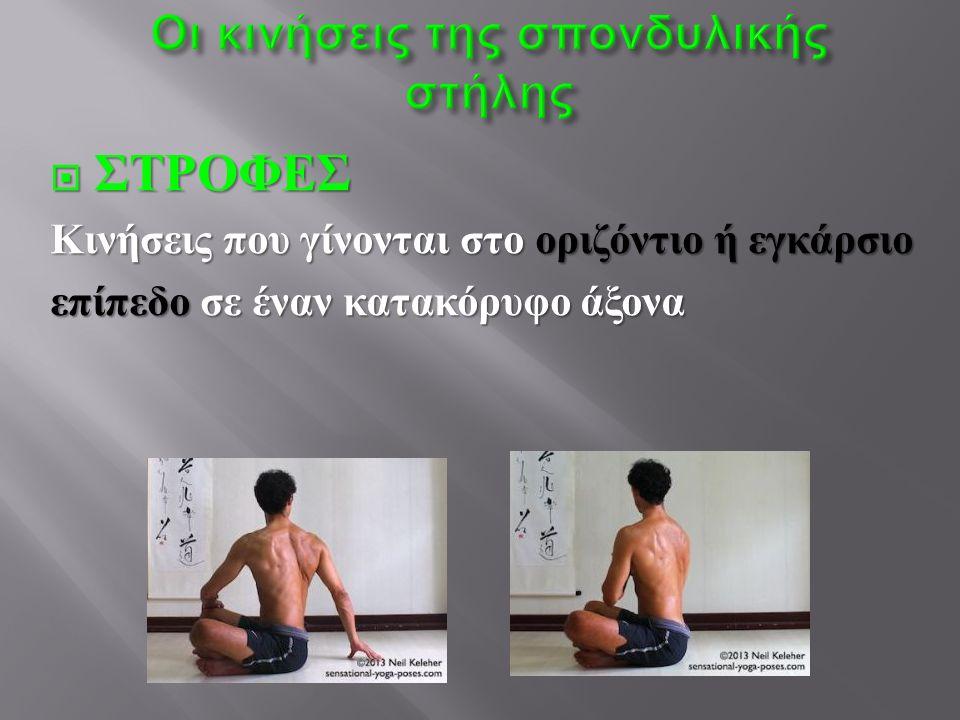 Οι κινήσεις της σπονδυλικής στήλης