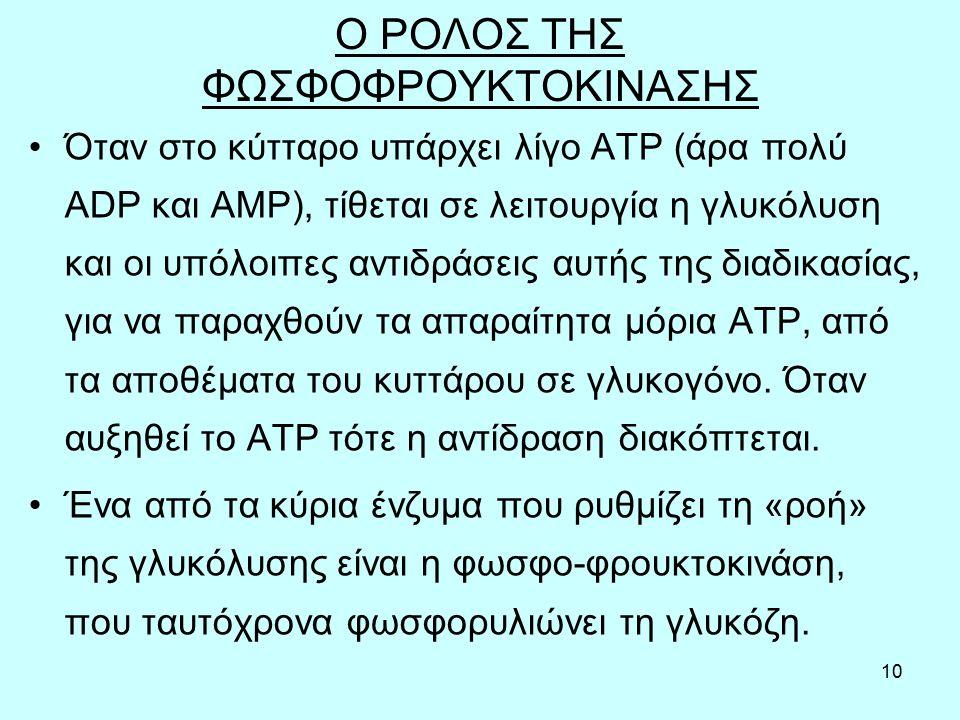Ο ΡΟΛΟΣ ΤΗΣ ΦΩΣΦΟΦΡΟΥΚΤΟΚΙΝΑΣΗΣ