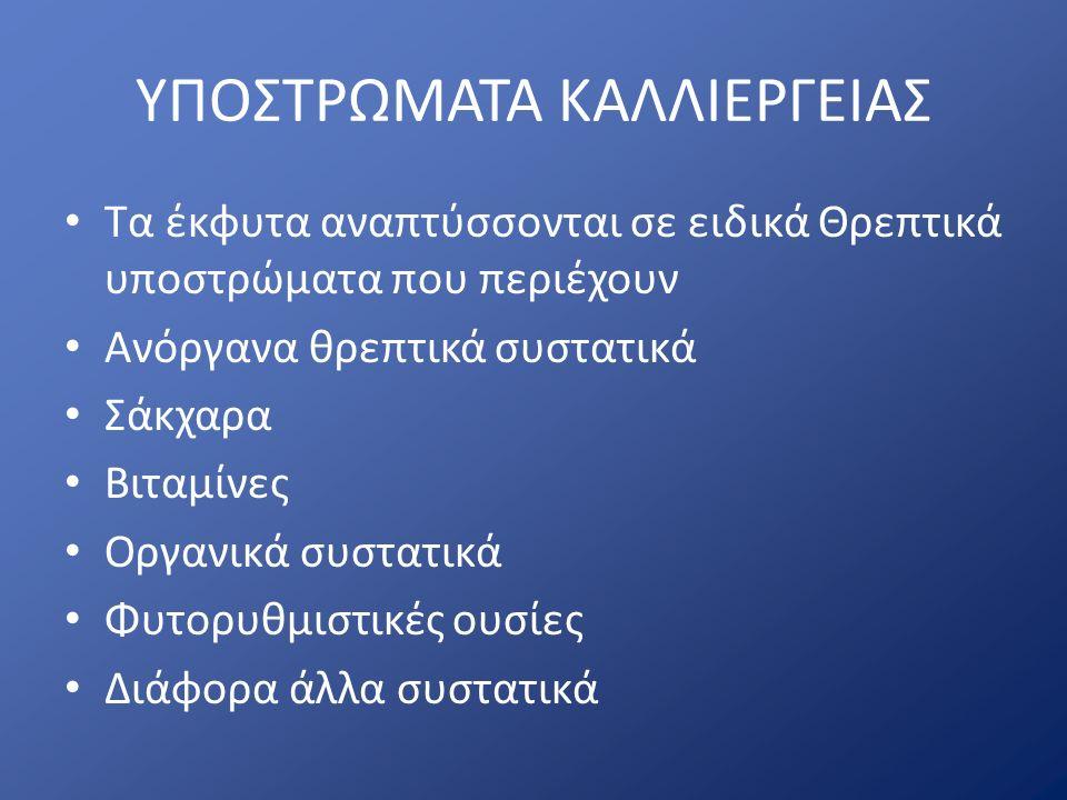 ΥΠΟΣΤΡΩΜΑΤΑ ΚΑΛΛΙΕΡΓΕΙΑΣ