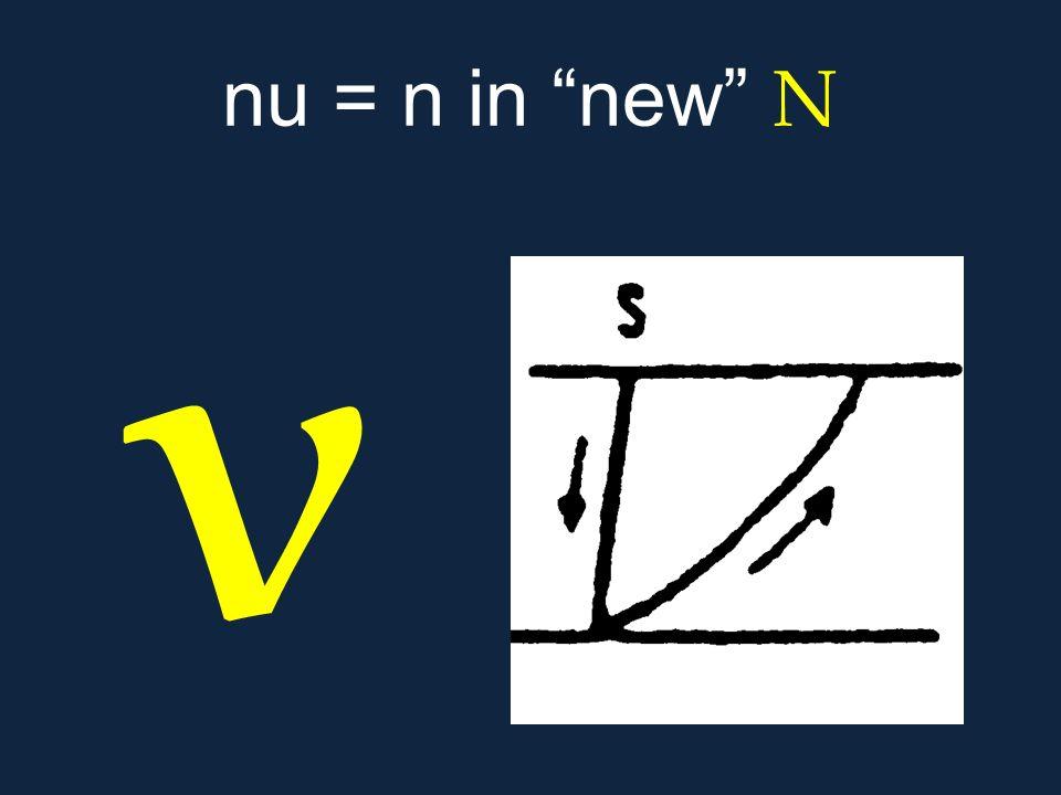 nu = n in new Ν ν.