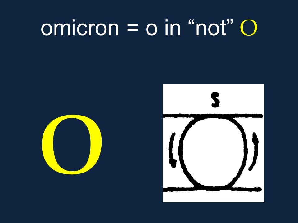 omicron = o in not Ο ο.