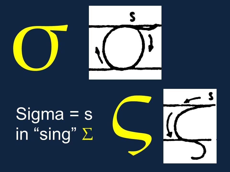 σ ς. Sigma = s in sing Σ.