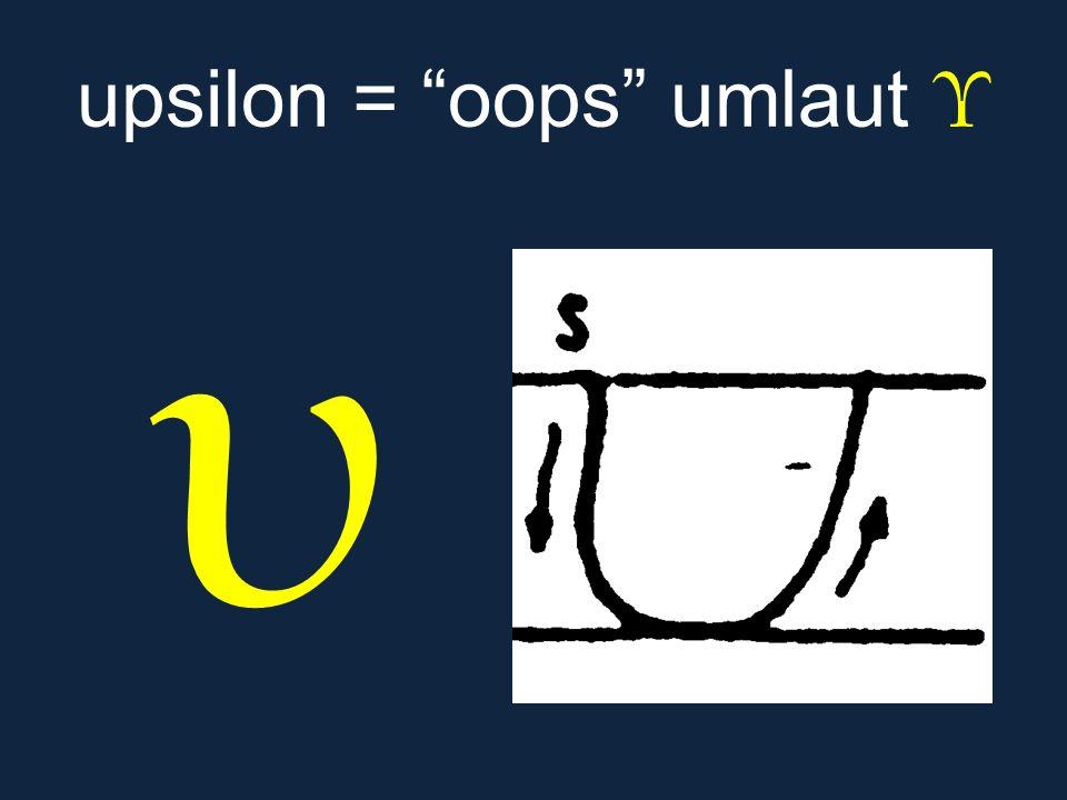 upsilon = oops umlaut Υ