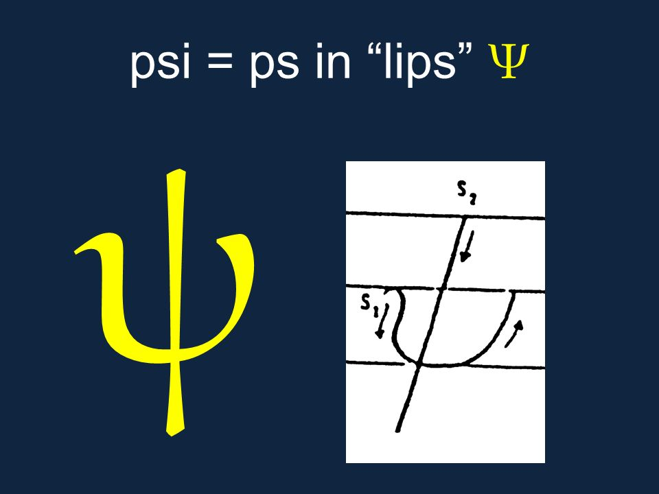 psi = ps in lips Ψ ψ.