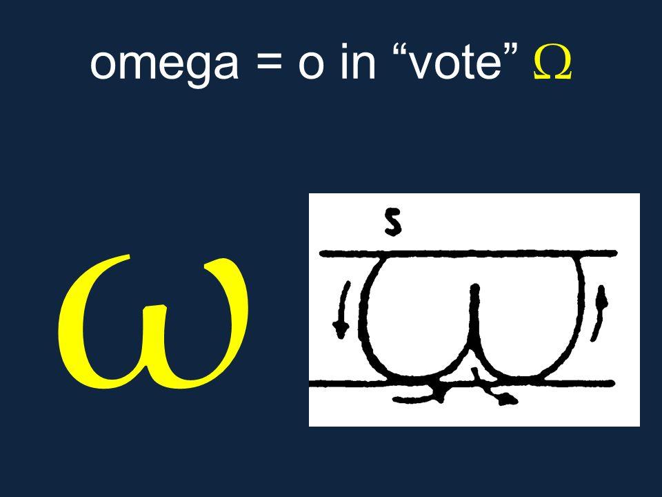 omega = o in vote Ω ω.