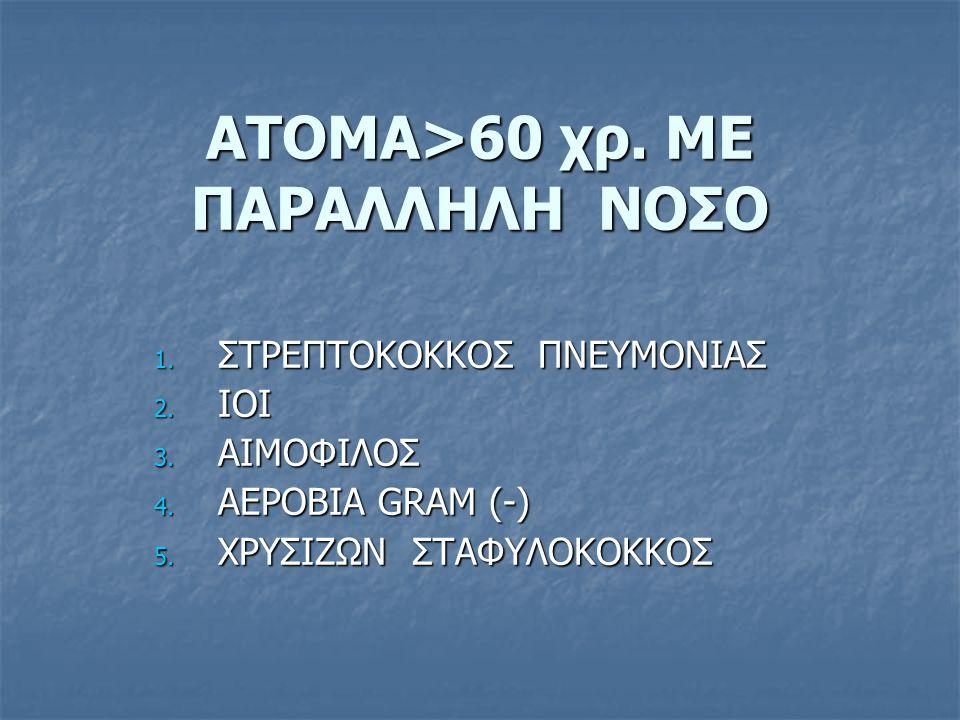 ΑΤΟΜΑ>60 χρ. ΜΕ ΠΑΡΑΛΛΗΛΗ ΝΟΣΟ