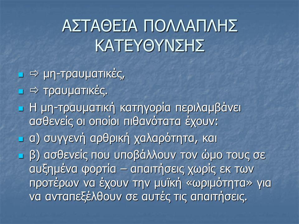 ΑΣΤΑΘΕΙΑ ΠΟΛΛΑΠΛΗΣ ΚΑΤΕΥΘΥΝΣΗΣ