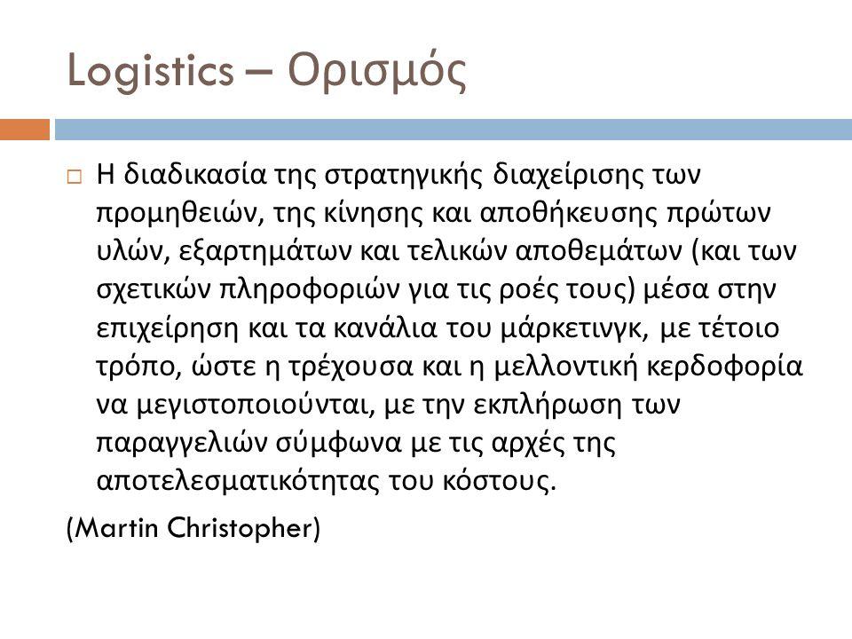 Logistics – Ορισμός