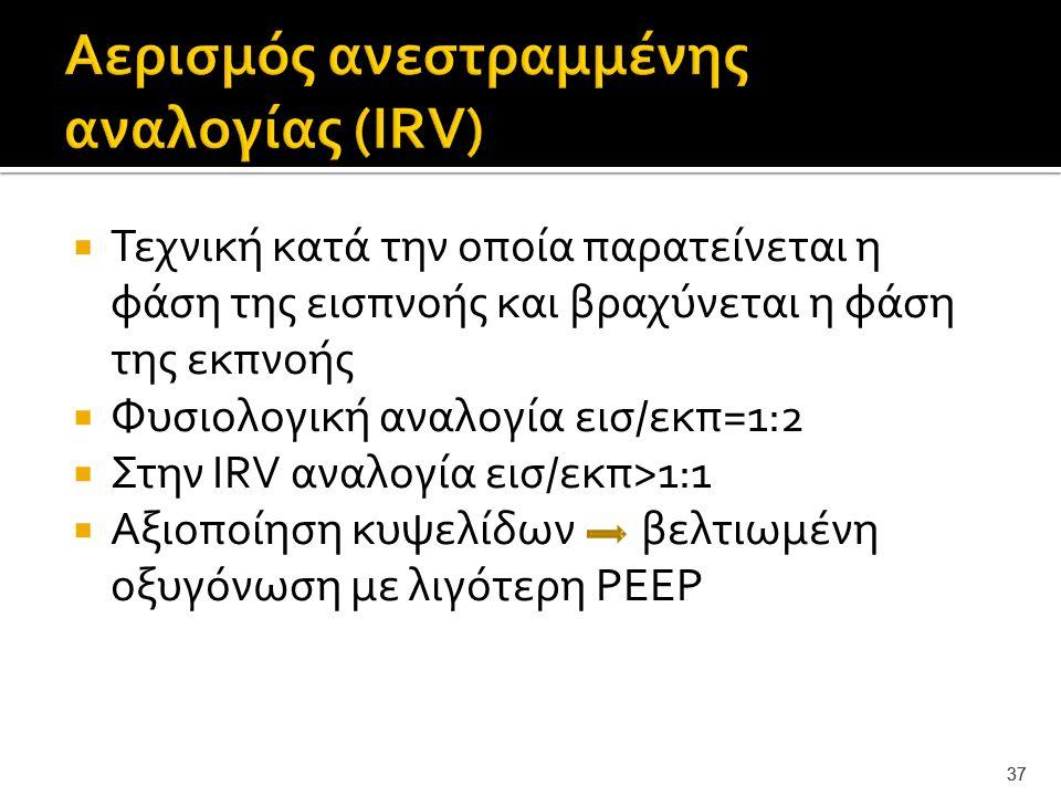 Αερισμός ανεστραμμένης αναλογίας (IRV)