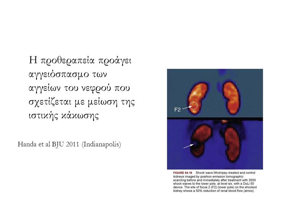 Η προθεραπεία προάγει αγγειόσπασμο των αγγείων του νεφρού που σχετίζεται με μείωση της ιστικής κάκωσης