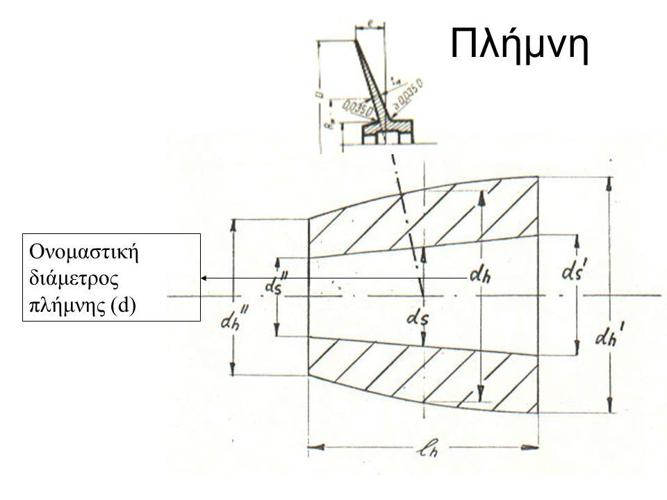 Πλήμνη Ονομαστική διάμετρος πλήμνης (d) 4