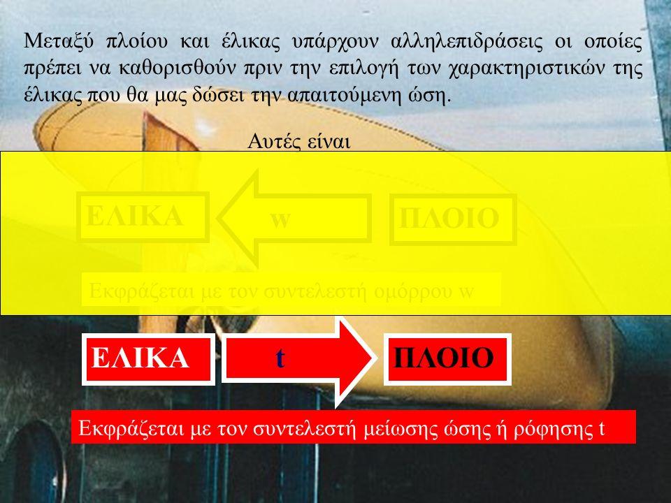 ΕΛΙΚΑ w ΠΛΟΙΟ ΕΛΙΚΑ t ΠΛΟΙΟ