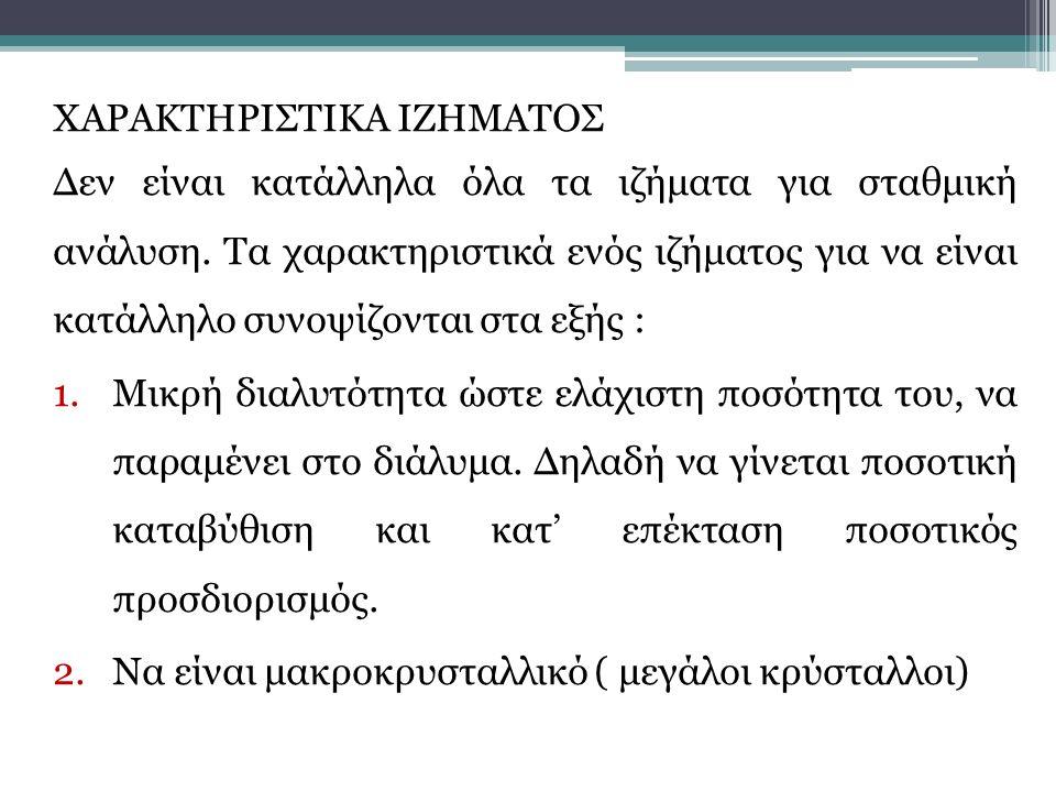 ΧΑΡΑΚΤΗΡΙΣΤΙΚΑ ΙΖΗΜΑΤΟΣ
